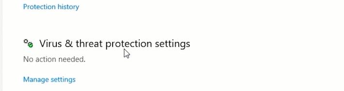 manage settings