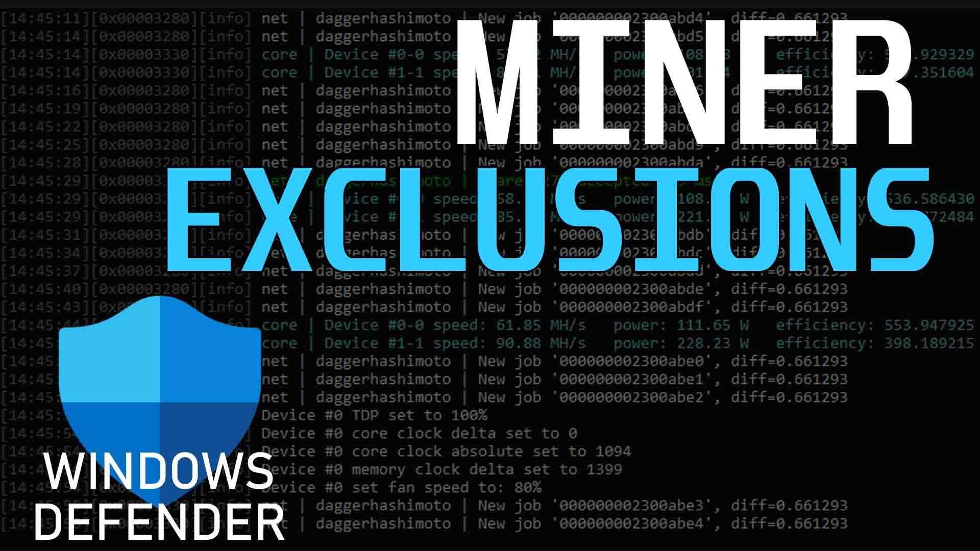 Exclude Miner